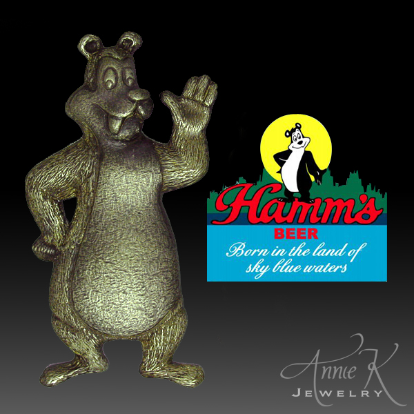 Hamm's Beer bear hand sculpted... more